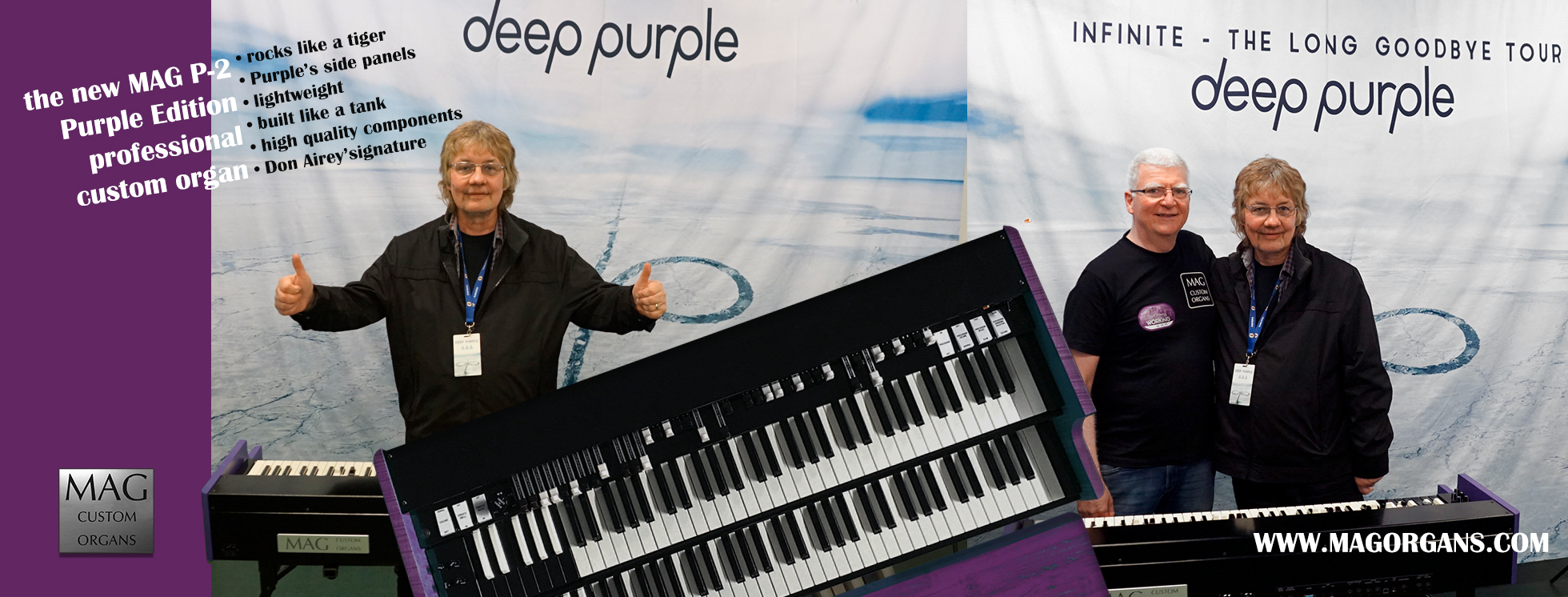 Don Airey's signature organ with Deep Purple